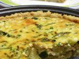Receta Quiche de calabacin, espárragos y pollo