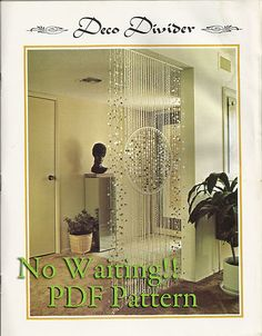 YEA!..I hate waiting for the mail!! Vintage Macrame Door Curtain Pattern Boho Bohemian Gypsy Hippie Shabby Chic | eBay