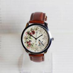 Birds and floralVintage Bird watchwrist watch women Watch