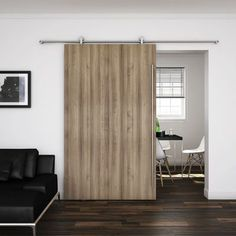 There are basically two types of barn door hardware. The first is a rustic, flat track sliding door system The second is a more modern roller and track style Wooden Sliding Doors, Internal Sliding Doors, Sliding Door Track, Sliding Door Systems, Sliding Barn Door Hardware, Wood Doors, Interior Doors For Sale, Interior Barn Doors, Exterior Doors