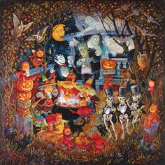 Monsters Night Out Halloween Jigsaw Puzzle | What's New | Vermont Christmas Co. VT Holiday Gift Shop