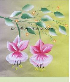 Flores One stroke. How to paint flowers. Brush Strokes Painting, One Stroke Painting, Painting Videos, Tole Painting, Fabric Painting, Painting & Drawing, Acrylic Painting For Beginners, Beginner Painting, Donna Dewberry Painting