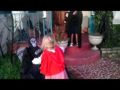 This Little Boy Is Frightened By A Halloween Decoration So His Sister Does This... - NewsLinQ