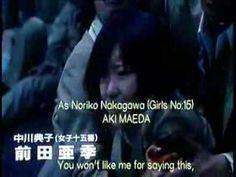 Battle Royale (2000) directed by Kinji Kukasaku