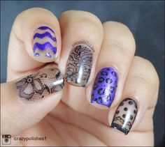 Crazy Polishes - Sheer Stamping!