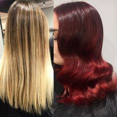 Transformation goals tho👠🔥  Shout out to @kaelarenner for all her help on this one💖  #hair #hairstyles #haircolor #hairtransformation #transformation #redhair #redhead #redbalayage #coloredhair #colormelt #vividhair #balayage #balayageartists #blendedcolor #detroithair #detroitsalon #michiganhair #redken #olaplex #pravana