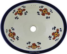 Imagine this #myMexicanTile #handpainted #sink in your #bathroom. Consider for your next remodeling project this #MexicanTile #sink and brand new plumbing fixtures from #Mexico. Any hand painted #bathroomsink is often used to #decorate #traditional interior walls, #counters and #cabinets.