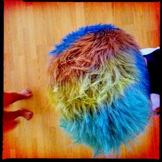 Water + chalk = fun hair! Washes out with soap and water.