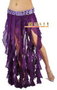 Bellydance hipscarf spiral tendril panel sheer skirt all colors on ebay