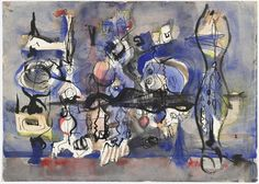 Mark Rothko, Untitled, 1944,  watercolor, ink, and graphite on paper