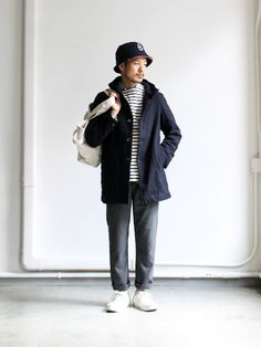 RINEN 2/48 Wool Hooded Coat
