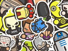 No residue Iron Man Sticker Pack FREE SHIPPING Random vinyl sticker Scrapbooking Laptop Cool stickers -Water bottle