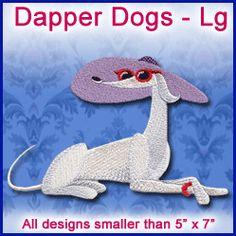 A Dapper Dogs Design Pack - Lg design (X8414) from www.Emblibrary.com