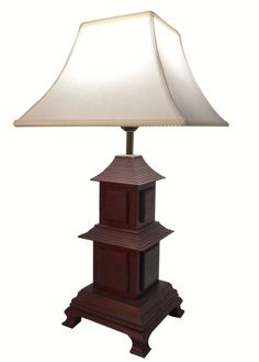 Buy pagoda table lamps on line and in our Norwalk ,Conneticut location serving the Tri State New York metro area. Asian Lamps, Red Accents, Brutalist, Drum Shade, Red Gold, End Tables, Floor Lamp, Temple, 21st