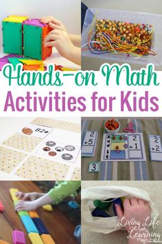 Instead of hunting down for great and fun Math activities, I have a list of wonderful hands-on Math activities for kids that you can use anytime! Take a look!