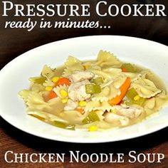 A really simple pressure cooker chicken noodle soup recipe