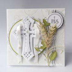 Moja propozycja na pamiątkę I Komunii Świętej w komplecie. Communion, Baptism Cards, Faith, Pictures, Scrapbooking, Decor, Paper, Photos, Decoration