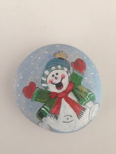 Hand painted stones christmas gift box by EvileyeCreations