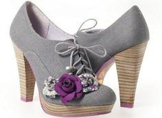 42335fd4 RUBY SHOO LANA WOMEN'S GREY FABRIC SHOE FLORAL HIGH HEEL PLATFORMS NEW (6):  Amazon.co.uk: Shoes & Bags