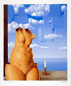 Magritte Lithograph Signed, La folie des grandeurs II ( Megalomania)