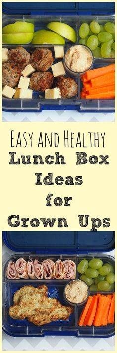 and Healthy Lunch Box Ideas for Grown Ups There's not a sandwich in sight in these grown up lunch boxes, but there is a whole lot of yum!There's not a sandwich in sight in these grown up lunch boxes, but there is a whole lot of yum! Healthy Drinks, Healthy Snacks, Healthy Eating, Healthy Recipes, Detox Recipes, Lunch Snacks, Lunch Recipes, Cooking Recipes, Kids Meals