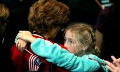 A girl at Hillary Clinton's election night event at the Javits Convention Center (Photo: Getty Images)