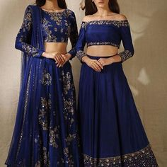 Wedding Outfit ideas for the Brides Best friend straight from the stars Bridesmaids Dress ideas from Bollywood Celebs Witty Vows Indian Bridal Fashion, Indian Wedding Outfits, Indian Outfits, Lehenga Choli Designs, Pakistani Dresses, Indian Dresses, Royal Blue Lehenga, Blue Lengha, Desi Clothes
