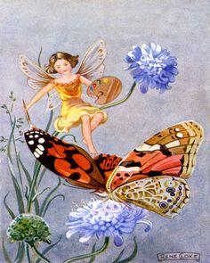 Butterfly Fairy Vintage Artwork