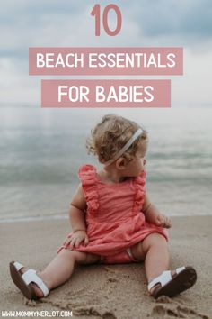 Planning a trip to the beach with your baby or toddler? Set yourself up for success with these 10 baby beach essentials that you won't want to forget! Baby Beach Gear, Save On Diapers, Bathing Photos, Baby Float, Little Pool, Reusable Diapers, Little Swimmers, Baby Sleep Schedule, Breastfeeding Help