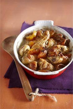 Gestoofde kip in zoete saus van honing en specerijen - Boodschappen