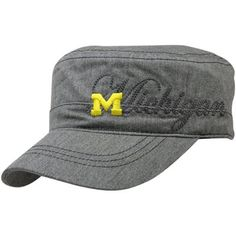 adidas Michigan Wolverines Women's Chambray Military Adjustable Hat - Gray