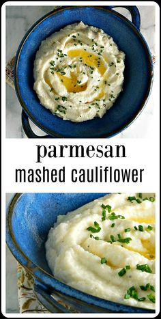 Parmesan Mashed Cauliflower can be a decent low carb alternative to Mashed Potatoes - if you know a few tricks to get it right! Parmesan Mashed Cauliflower can be a decent low carb alternative to Mashed Potatoes - if you know a few tricks to get it right! Califlour Recipes, Veggie Recipes, Low Carb Recipes, Cooking Recipes, Healthy Recipes, Skillet Recipes, Healthy Food, Recipies, Bariatric Recipes