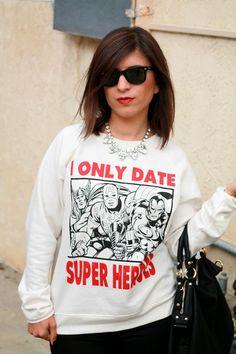 Graphic Sweater #superheroes