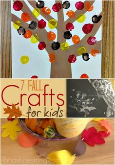 7 Fall Crafts for the Home and the Kids; DIY decor and activities kids can do! Easy Fall Crafts, Fall Crafts For Kids, Thanksgiving Crafts, Holiday Crafts, Kids Diy, Holiday Fun, Crafts To Sell, Home Crafts, Diy Crafts