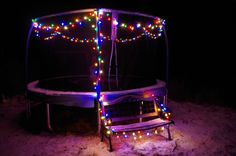 trampoline with lights