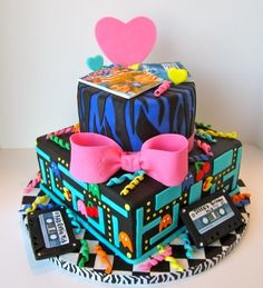 Awesome 80s Birthday Cake By kate6207 on CakeCentral.com