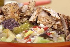 Grilled Chicken Posole Salad recipe from Rachael Ray via Food Network Grilling Recipes, Cooking Recipes, Healthy Recipes, Lime Chicken, Grilled Chicken, Mexican Food Recipes, Ethnic Recipes, 30 Minute Meals, Food Network Recipes