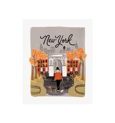 Rifle Paper Co. - New York Autumn - Illustrated Art Print
