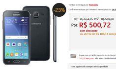 """Samsung Galaxy J2 Duos Preto com Dual chip Tela 4.7"""" 4G Câmera 5MP Android 5.1 e Processador Quad Core de 1.1 Ghz << R$ 50072 em 5 vezes >>"""