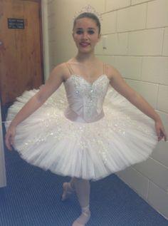 Aurora's birthday variation ballet tutu by Margaret Shore - pale pink silk, with pieced ivory lace
