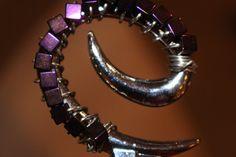 Bottle/ Wine Stopper-Beaded-Dark Purple/Plum by Wine Stoppers, Plum Color, Dark Purple, Bottle, Unique Jewelry, Bracelets, Handmade Gifts, Vintage, Etsy