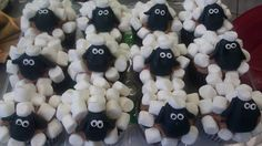 Shawn the Sheep cupcakes for a kid's birthday