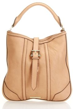 Burberry Handbag In Pale Tan.