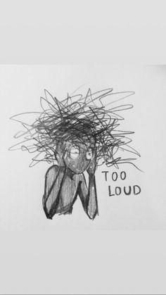 Drawing Ideas For Teens Doodles Life 44 Trendy Ideas Sad Drawings, Dark Art Drawings, Art Drawings Sketches, Dark Art Illustrations, Indie Drawings, Music Drawings, Drawings With Meaning, Art With Meaning, Illustration Art