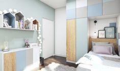 Set up 9 sqm children's room - tips for optimal furniture distribution - bathroom - kinderzimmer Grande Armoire, Cool Kids Rooms, Teen Furniture, Teenage Room, Teen Room Decor, Guest Bedrooms, Kid Beds, Girl Room, Child Room