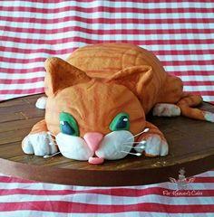 Tabby cat novelty cake! Novelty Cakes, Heavens, Cats, Breakfast, Food, Morning Coffee, Gatos, Sky, Heaven