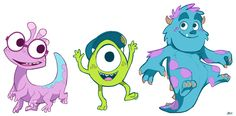 Young Monster Stickers by CoffeeChameleon on deviantART