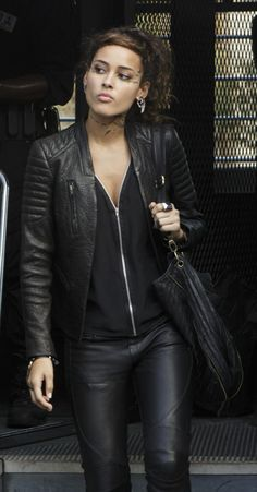 Teri wears an AllSaints Marin Leather Biker Jacket on Star-Crossed. Shop it: http://www.pradux.com/allsaints-marin-leather-biker-jacket-27378?q=s55
