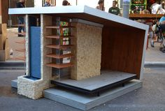 Frank Lloyd Wright inspired Falling Water dog house for the coolest of pups!