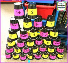 Addition And Subtraction Cups